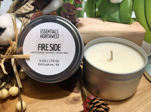 FireSide soy candle, 6 ounce soy candle,