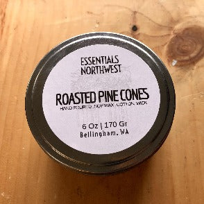 Roasted pine cones 6 oz soy candle