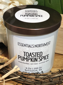 Toasted Pumpkin Spice, 9 soy candle jar