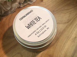 White tea, soy candle, 4 ounce soy candle tin
