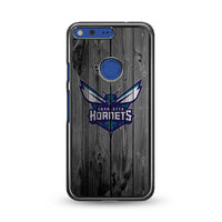 Charlotte Hornets Nba Logo Dark Wood Wallpaper Google Pixel Case | Miloscase