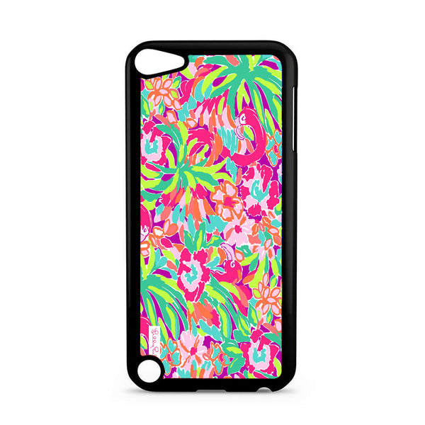 Abstract Flamingo Pattern Lilly Pulitzer iPod 5 Case