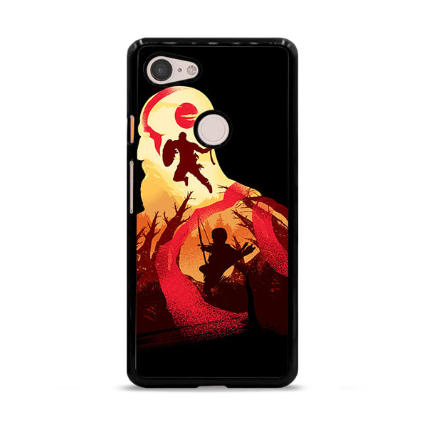 Kratos God Of War Fan Art Silhouette Google Pixel 3 Case