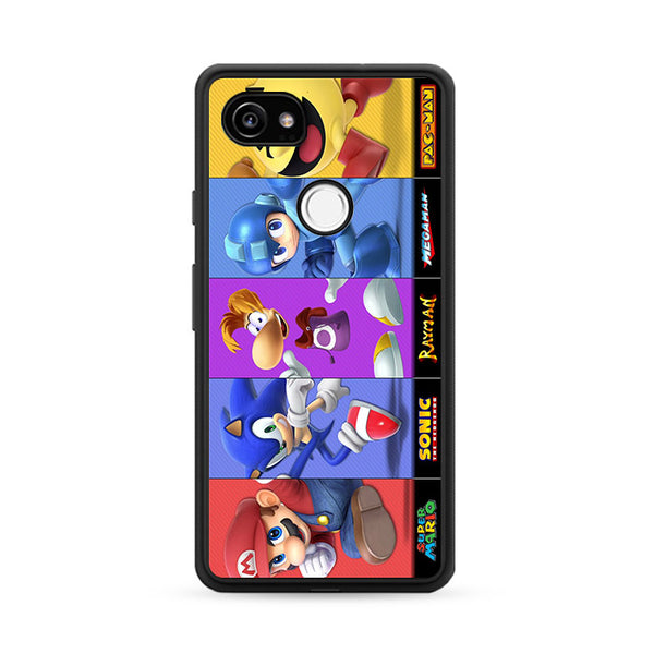 Mario Sonic Rayman Megaman And Pac Man Google Pixel 2 Case