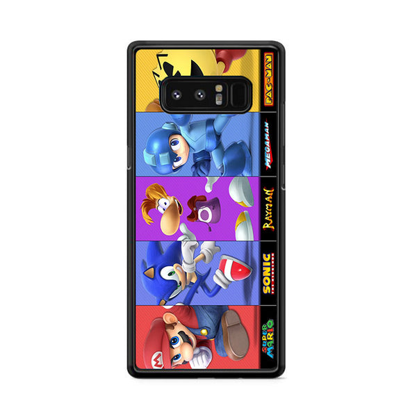 Mario Sonic Rayman Megaman And Pac Man Samsung Galaxy Note 8 Case
