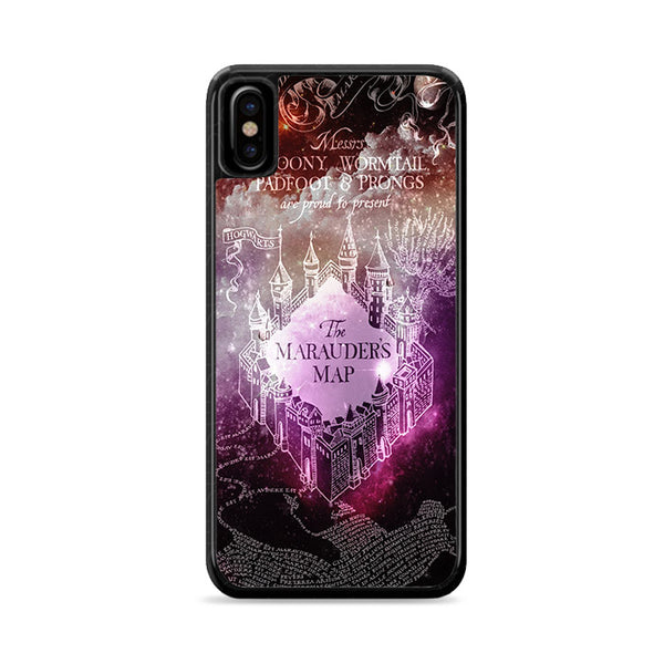 harrypotter maraders map galaxy iPhone XS Max Case