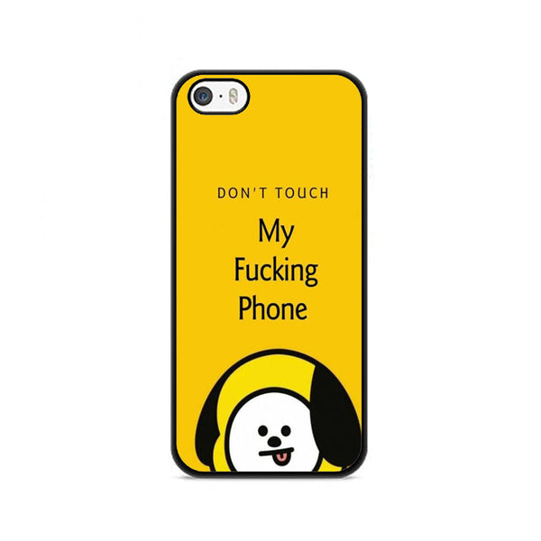 Bts Yellow Emoticon Say Dont Touch My Phone iPhone 5|5S|SE Case