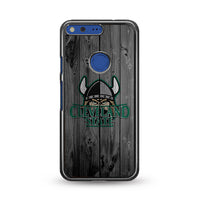 Cleveland State University Mascot Logo Dark Wood Wallpaper Google Pixel Case | Miloscase