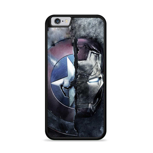 Captain America And Ironman Half Of Darkside iPhone 6|6S Case