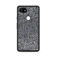 All That Glitter Charcoal Silver Crystal Google Pixel 2 Case