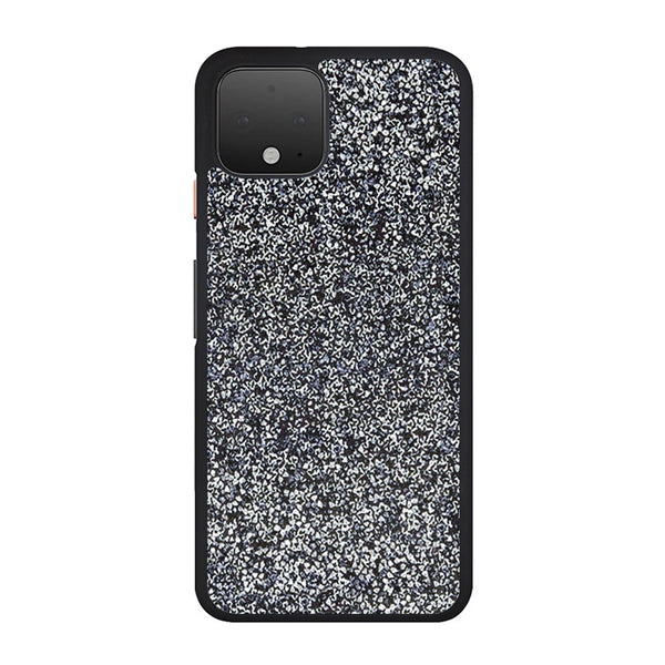 All That Glitter Charcoal Silver Crystal Google Pixel 4 XL Case