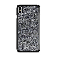 All That Glitter Charcoal Silver Crystal iPhone XS Case