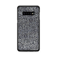 All That Glitter Charcoal Silver Crystal Samsung Galaxy S10 Plus Case
