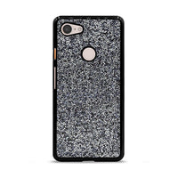 All That Glitter Charcoal Silver Crystal Google Pixel 3 Case