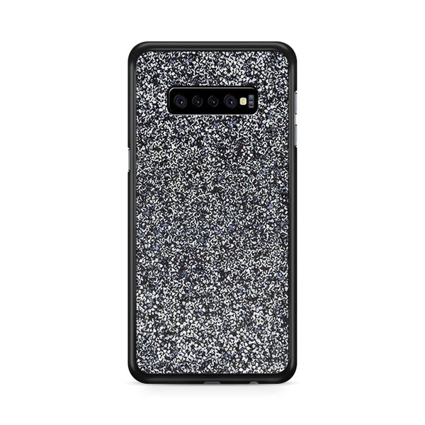 All That Glitter Charcoal Silver Crystal Samsung Galaxy S10e Case