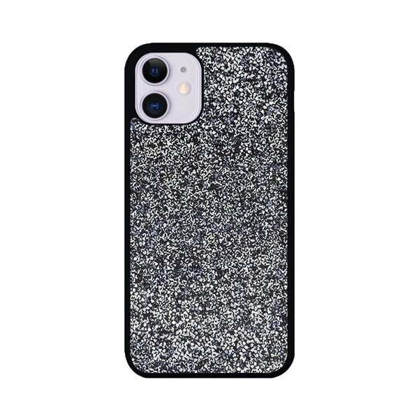All That Glitter Charcoal Silver Crystal iPhone 11 Case
