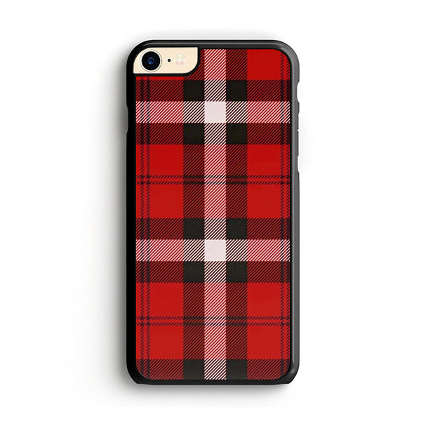 As If! Red Plaid iPhone 8 Case
