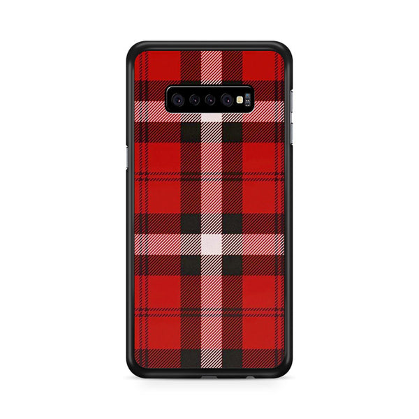 As If! Red Plaid Samsung Galaxy S10 Plus Case