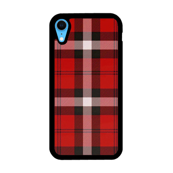 As If! Red Plaid iPhone XR Case