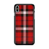 As If! Red Plaid iPhone XS Max Case