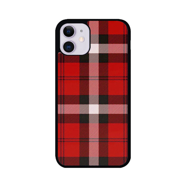 As If! Red Plaid iPhone 11 Case