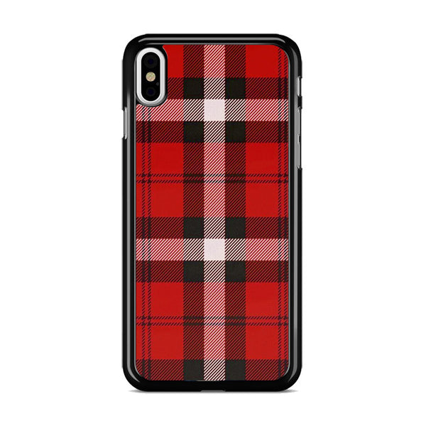 As If! Red Plaid iPhone X Case