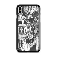 Asap Rocky Photo Collage Bw iPhone XS Max Case