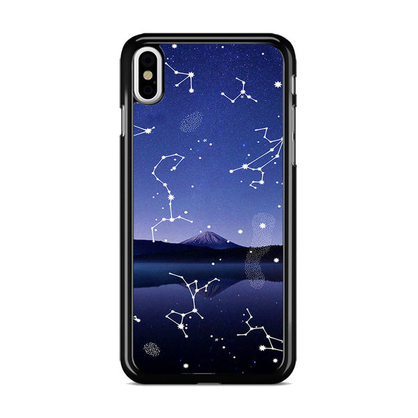Astronomy Star Gazing X Mountain Lake iPhone X Case