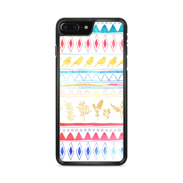 Birds X Plants Hand Drawn Tribal iPhone 8 Plus Case