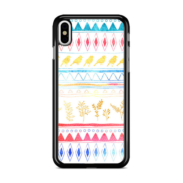 Birds X Plants Hand Drawn Tribal iPhone XS Case