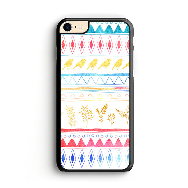 Birds X Plants Hand Drawn Tribal iPhone 7 Case