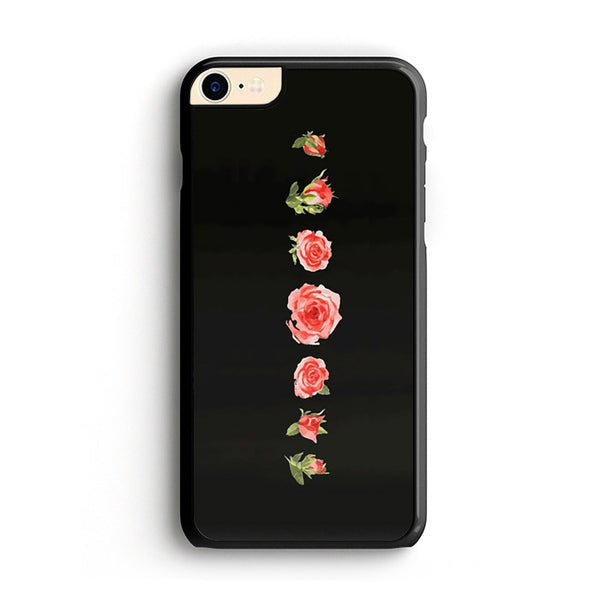 Blooming Red Rose Black Painting iPhone 7 Case