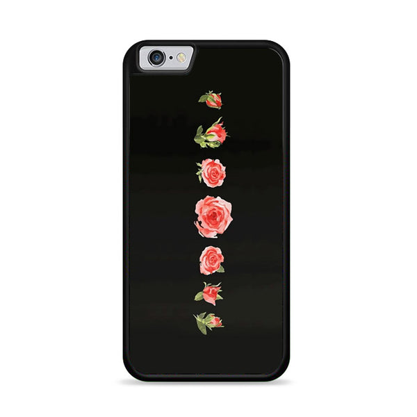 Blooming Red Rose Black Painting iPhone 6|6S Case