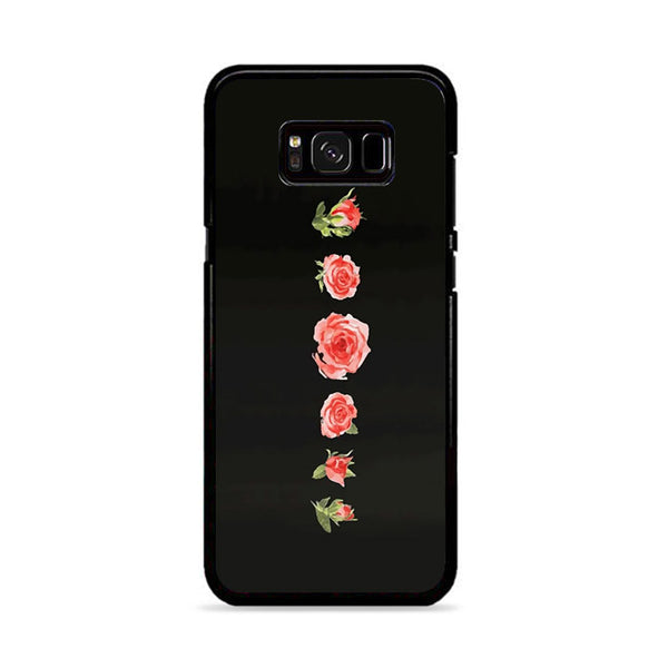 Blooming Red Rose Black Painting Samsung Galaxy S8 Plus Case