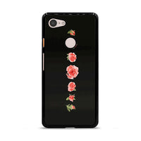 Blooming Red Rose Black Painting Google Pixel 3 XL Case