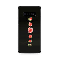 Blooming Red Rose Black Painting Samsung Galaxy S10 Case