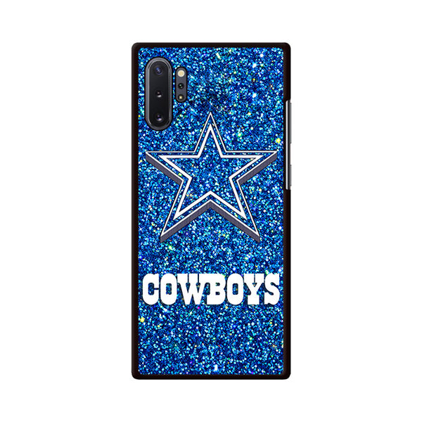 Dallas Cowboys Blue Sparkling Glitter Samsung Galaxy Note 10 Plus Case | Miloscase