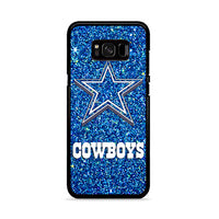 Dallas Cowboys Blue Sparkling Glitter Samsung Galaxy S8 Case | Miloscase