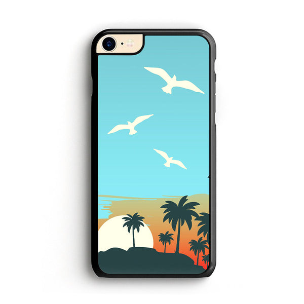 Cartoon Island Sunrise X Beach iPhone 8 Case