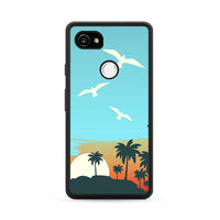 Cartoon Island Sunrise X Beach Google Pixel 2 Case