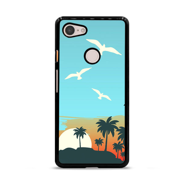 Cartoon Island Sunrise X Beach Google Pixel 3 Case