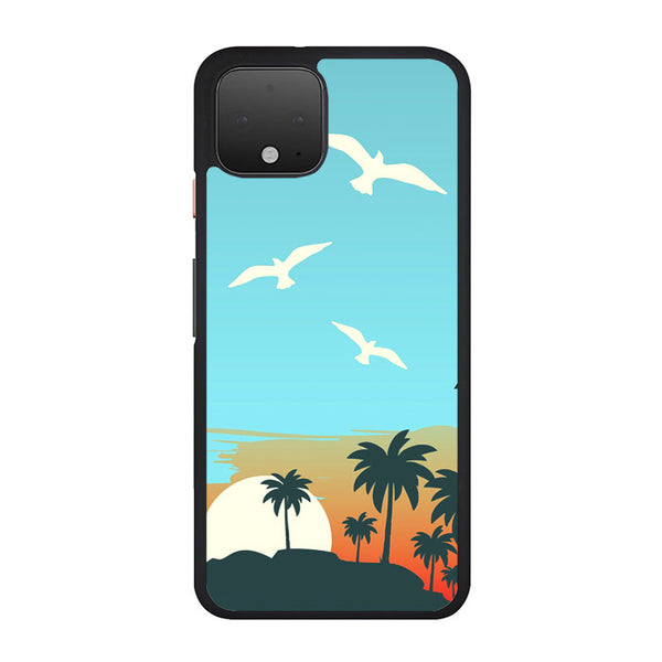 Cartoon Island Sunrise X Beach Google Pixel 4 Case