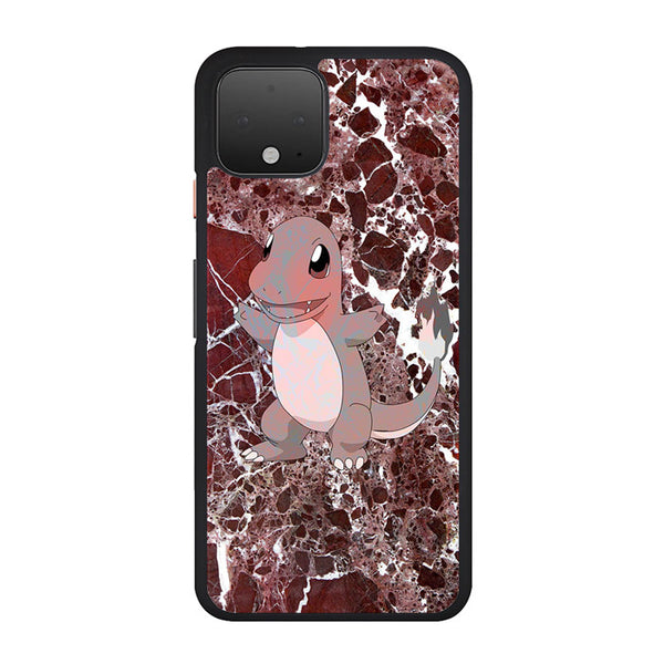 Charmander Maroon Marble X Stone Google Pixel 4 Case