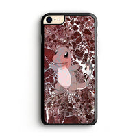 Charmander Maroon Marble X Stone iPhone 8 Case