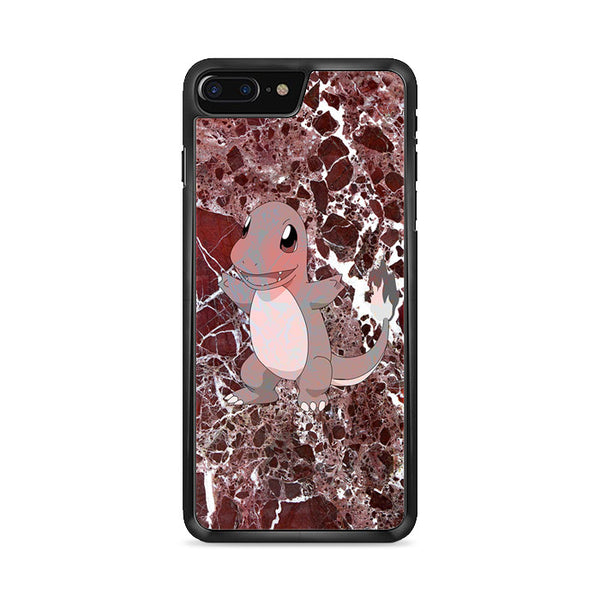 Charmander Maroon Marble X Stone iPhone 8 Plus Case