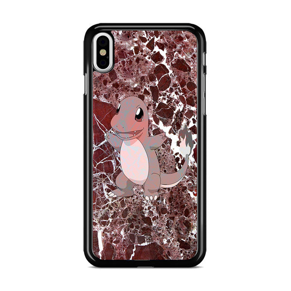 Charmander Maroon Marble X Stone iPhone X Case