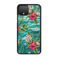 Clear Blue Caribbean Ocean X Tropical Design Google Pixel 4 XL Case