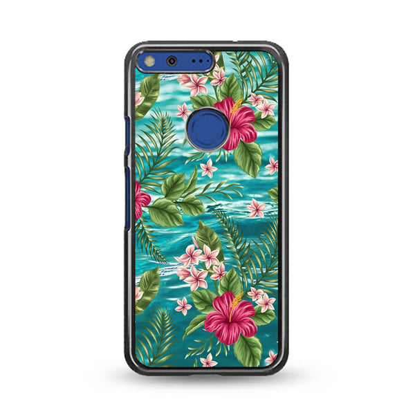 Clear Blue Caribbean Ocean X Tropical Design Google Pixel Case