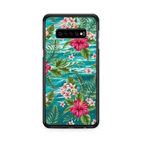 Clear Blue Caribbean Ocean X Tropical Design Samsung Galaxy S10 Plus Case