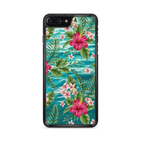 Clear Blue Caribbean Ocean X Tropical Design iPhone 7 Plus Case